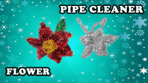 how to make a poinsettia flower with pipe cleaners easy christmas