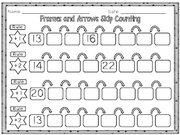 skip counting with frames and arrows skip counting arrows and