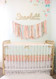 Hayley Nursery Bedding Set by Coral Mint And Gold Vintage Style Scarlett U0027s Nursery Reveal