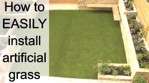 how to install artificial grass youtube