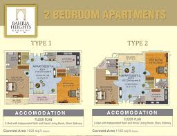 floor plan of 2 bedroom bahria heights u2013 bahria town karachi