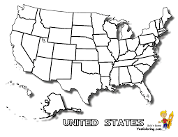 united states coloring page map of the united states with title