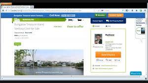 bungalow treasure island sentosa cove for sale 81811129 youtube