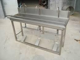 foot pedal hand sink 1 5 meters foot pedal stainless steel sink belt hand washing trough