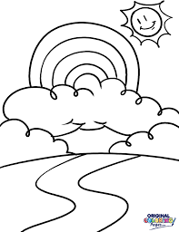 rainbow u2013 coloring pages u2013 original coloring pages