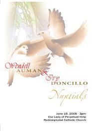 Catholic Mass Wedding Programs Catholic Wedding Missalette Wendell U0026 Ivy Wedding