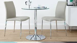 Small Round Kitchen Table For Two by Dining Round Glass Dining Table With Metal Base Small Kitchen