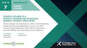 power ledger named in top 10 extreme tech challenge xtc