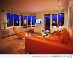 Best CzerwonyPomarańczowy Images On Pinterest Home - Orange living room design