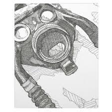 gas mask photo plaques zazzle