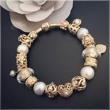 gold bracelet with pearl charm images 283 best pandora galore images pandora armband jpg