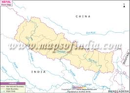 map of nepal and india nepal river map rivers in nepal