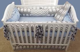Chevron Boy Crib Bedding Baby Boy Crib Sets Elephant Crib Set For Boys Elephant Baby