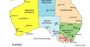 map of australia with cities and states a map of australia clearly illustrating the states and
