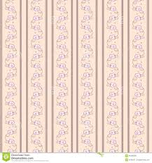 vintage striped wallpaper with flowers stock illustration image