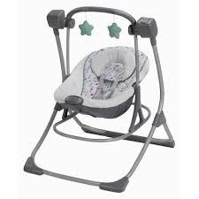 portable baby swing with lights graco cozy duet baby swing and rocker lambert walmart com