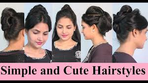 Simple And Cute Hairstyle by Simple And Cute Hairstyles For Girls And Women Youtube