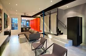 Small Row House Renovation Idea Bold Colors - Row house interior design