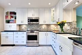 kitchen counters and backsplash white cabinets counters black countertops what color walls