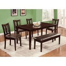 iohomes arthur 6pcs dining table set wood espresso target