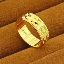 golden gold rings images 2018 new 24k gp women jewelry gold plating wedding male ring jpg
