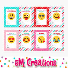 s day cards for school printable emoji valentines day card school by 5mcreations on etsy
