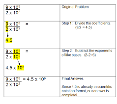 scientific notation multiplication and division worksheet answers