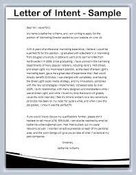 Resume Letter Of Intent Letter Of Intent Formats Letter Of Intent Grad Education