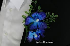 blue boutonniere blue orchid boutonniere