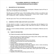 cleaning contract template exclusively cleaning proposal template