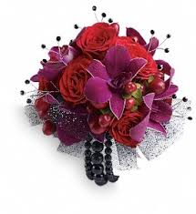 purple corsage premium and purple regal wrist corsage in st louis mo