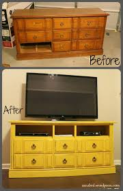 diy dresser turned tv console with tutorial dresser consoles