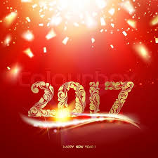 happy new year card gold template background with golden