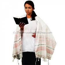 prayer shawl from israel pink and silver tallit prayer shawl holy land christian gifts