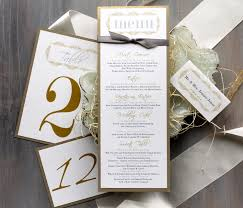 personalized cards wedding gold wedding menu cards personalized place cards gold