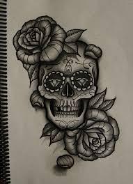skull and roses by frah deviantart com on deviantart ideas