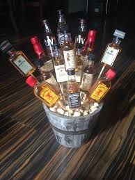 14 best liquor basket images on pinterest candy bouquet auction