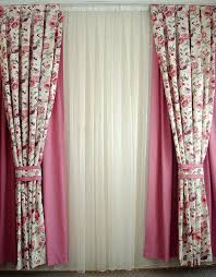 Curtains With Tabs 180 Country Style Floral Printed Custom Size Pair Of Decorative