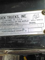 kenworth parts by vin number used 1985 mack rs 7 for sale 1525