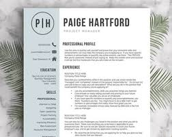 Resume Templates For Pages Modern Resume Template For Word And Pages 1 3 Pages Cover