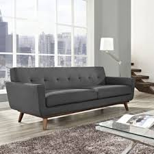 Midcentury Leather Sofa Mid Century Sofas Couches U0026 Loveseats Shop The Best Deals For