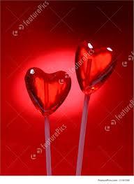 s day lollipops heart shaped lollipops photo
