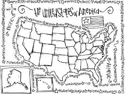 Free Printable United States Map by Coloring Pages United States