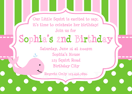 Invitation Cards To Print Printable Birthday Invitations Girls Whale Party