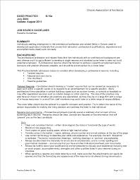 Resume For Architecture Job Resources Ontario Association Of Architects