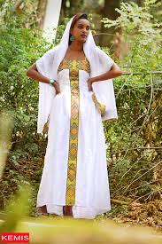 Ethiopian Eritrean Habesha Wedding Dresses Traditional Modern