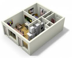 3d apartment design insight of 3 bedroom 3d floor plans in your