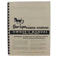 char lynn power steering owners manual rep2643