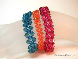 bead tutorials crystal bracelet images Free crystal bead jewelry tutorials swarovski bracelets wrapped jpg