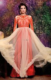 buy indian gown styles of indo western long dress for teen girls